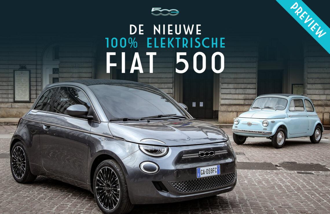 De nieuwe 100% elektrische Fiat 500e Preview Oost Nederland